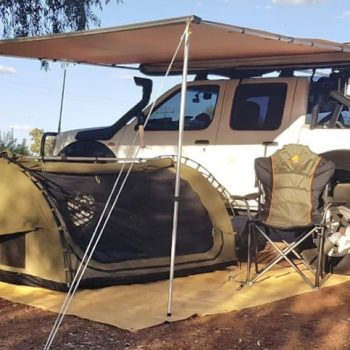 Camping outdoors in Australia