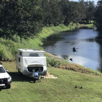Camping by the river