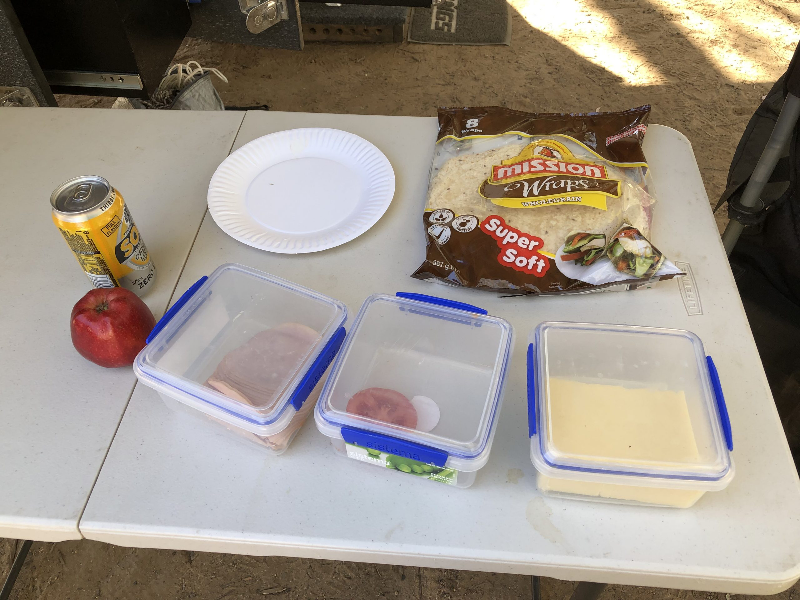lunchtime camping foods