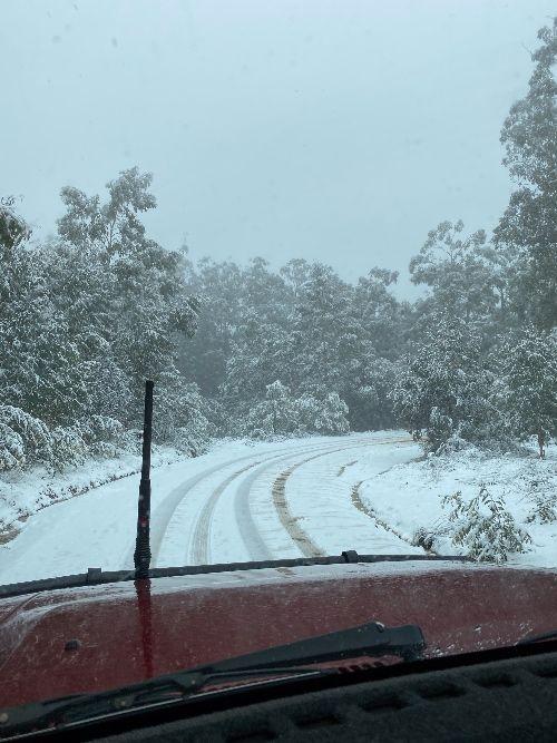 Driving in snow in Australia