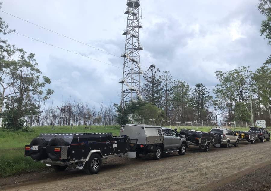 Convoy of vehicles