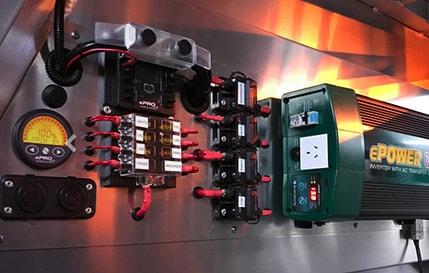 Caravan power systems