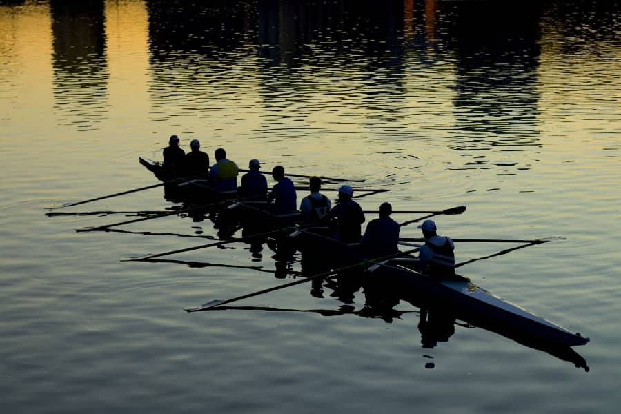 Rowing Crew on the Yarra River Melbourne