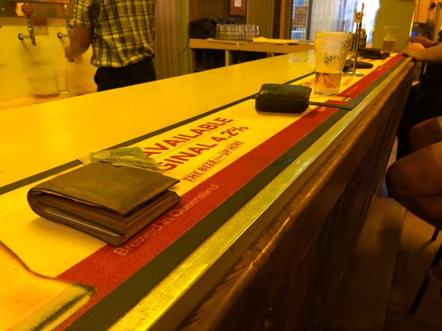 Wallet on the Bar Australian Pubs