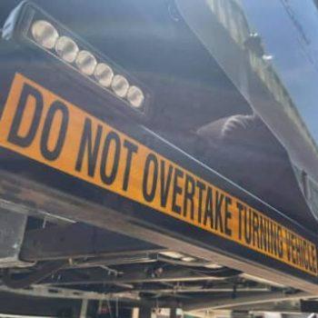 Overtaking turning vehicles